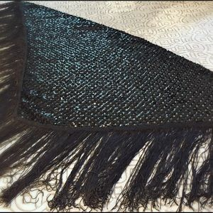 Jackets & Blazers - Black sequin evening shawl